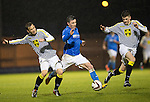St Mirren v St Johnstone...06.12.14   SPFL<br /> Marian Kello gets booked for bringing down Michael O'Halloran<br /> Picture by Graeme Hart.<br /> Copyright Perthshire Picture Agency<br /> Tel: 01738 623350  Mobile: 07990 594431