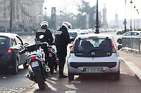 French police officers patrol a Christmas market on the Champs Elysees Avenue as emergency security measures continue in Paris, France, December 21, 2016. # SECURITE RENFORCEE AU MARCHE DE NOEL DES CHAMPS ELYSEES A PARIS