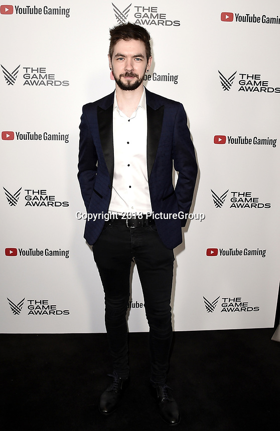 LOS ANGELES - DECEMBER 6: Jacksepticeye attends the 2018 Game Awards at the Microsoft Theater on December 6, 2018 in Los Angeles, California. (Photo by Scott Kirkland/PictureGroup)