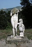 Italy: Tivoli--Hadrian's Villa. Venus--a copy of the Aprhodite of Cnidos by Praxiteles. Photo '83.