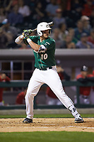 Zach Jarrett (10) of the Charlotte 49ers at bat against the Georgia Bulldogs at BB&T Ballpark on March 8, 2016 in Charlotte, North Carolina. The 49ers defeated the Bulldogs 15-4. (Brian Westerholt/Four Seam Images)