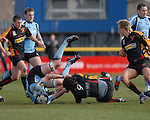Glasgow's Kelly Brown gets to grips with Dragons No 9 Andy Williams Newport Gwent Dragons Vs Glasgow Warriors Magners League  Copyright IJC Photography Photographer Ian Cook