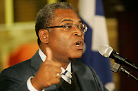 Montreal (Qc) CANADA -Jan 24 2010 - Jean-Max Bellerive, Haiti Prime Minister visit the Haitin community in Montreal (canada)