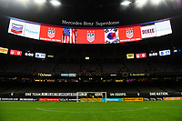 New Orleans, LA - Thursday October 19, 2017: Mercedes Benz Superdome during an International friendly match between the Women's National teams of the United States (USA) and South Korea (KOR) at Mercedes Benz Superdome.