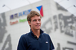 SHANGHAI, CHINA - OCTOBER 11:  Tomas Berdych of Czech Republic poses in front of the Czech Republic Pavillion as part of a visit to the Shanghai World Expo during day one of the 2010 Shanghai Rolex Masters on October 11, 2010 in Shanghai, China.  (Photo by Victor Fraile/The Power of Sport Images) *** Local Caption *** Tomas Berdych