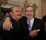 MAURO MASI CON PIPPO BAUDO<br /> FESTA DEGLI 80 ANNI DI MARTA MARZOTTO<br /> CASA CARRARO ROMA 2011