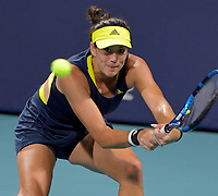 MIAMI GARDENS, FL - MARCH 29: (NO SALES TO NEW YORK POST) Garbine Muguruza of Spain on day 8 of the Miami Open on March 29, 2021 at Hard Rock Stadium in Miami Gardens, Florida<br /> <br /> <br /> People:  Garbine Muguruza