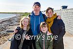 Enjoying a stroll in Fenit on Sunday, l to r: Abby, Brian, Chloe and Niamh Stephenson.