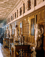 The Long Gallery at Powis Castle was completed in 1593 and is the only room to have been decorated by Sir Edward Herbert that has survived intact
