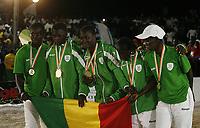 VillËs Jeux de la Francophonie Abidjan 2017 / CompÈtitions Sportives Lutte Africaine finale des Femmes, mÈdaille pour l'Equipe du SÈnÈgal au parc des Sport de Treichville, Minji HervÈ CÙte d'Ivoire en ceinture rouge et Mamadou du Niger en ceinture bleu / Abidjan 29 juillet 2017 # 8EME JEUX DE LA FRANCOPHONIE D'ABIDJAN 2017