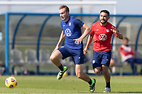 BRADENTON, FL - JANUARY 23: Henry Kessler moves with the ball during a training session at IMG Academy on January 23, 2021 in Bradenton, Florida.