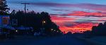 Sunrise over main street in Loretta, Wisconsin.