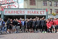 USMNT at Pike Place Fish Market, June 15, 2016