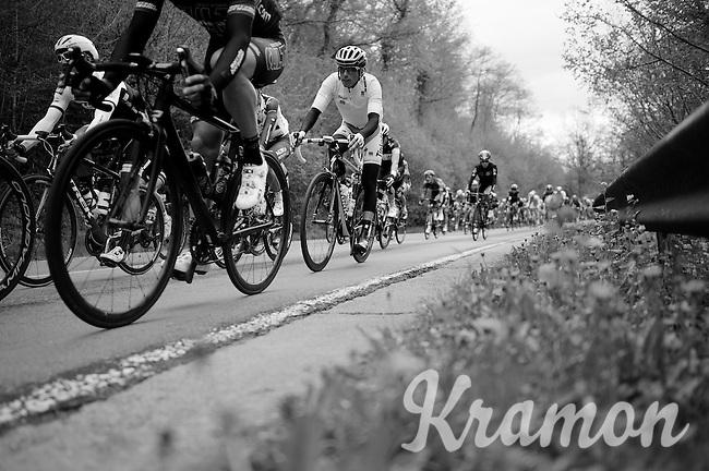 peloton down towards the first climb of the day<br /> <br /> 101th Liège-Bastogne-Liège 2015