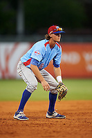 Tennessee Smokies third baseman Wes Darvill (8) during a game against the Montgomery Biscuits on May 25, 2015 at Riverwalk Stadium in Montgomery, Alabama.  Tennessee defeated Montgomery 6-3 as the game was called after eight innings due to rain.  (Mike Janes/Four Seam Images)