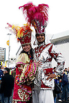 NFL International Series.<br /> San Diego Chargers vs New Orleans Saint.<br /> Celebrating New Orleans Carnival.