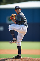 New York Yankees pitcher Leonardo Pestana (38) during an Instructional League intrasquad game on September 27, 2019 at New York Yankees Minor League Complex in Tampa, Florida.  (Mike Janes/Four Seam Images)