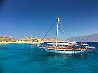 Sailing boat near Kas, Turkey