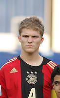 Germany's Florian Jungwirth (4) stands on the field before the match against Brazil during the FIFA Under 20 World Cup Quarter-final match at the Cairo International Stadium in Cairo, Egypt, on October 10, 2009. Germany lost 2-1 in overtime play.