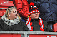 Fleetwood Town fans during the Sky Bet League 1 match between Fleetwood Town and Burton Albion at Highbury Stadium, Fleetwood, England on 15 December 2018. Photo by Stephen Buckley / PRiME Media Images.