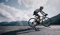 Diego Ulissi (ITA/UAE-Emirates) up the Col d'Izoard (HC/2360m/14.1km/7.3%)<br /> <br /> 104th Tour de France 2017<br /> Stage 18 - Briancon › Izoard (178km)