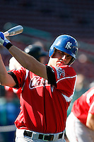 Mike Moustakas  ---  At the annual California League-Carolina League all-star game at the Diamond in Lake Elsinore, CA - 06/23/2009. The game was won by the California League, 2-1, on a walk-off homerun by Lancaster's Jon Gaston..Photo by:  Bill Mitchell/Four Seam Images