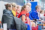 Mannheim, Germany, December 01: During the Bundesliga indoor women hockey match between Mannheimer HC and Nuernberger HTC on December 1, 2019 at Irma-Roechling-Halle in Mannheim, Germany. Final score 7-1. Stine Kurz #27 of Mannheimer HC<br /> <br /> Foto © PIX-Sportfotos *** Foto ist honorarpflichtig! *** Auf Anfrage in hoeherer Qualitaet/Aufloesung. Belegexemplar erbeten. Veroeffentlichung ausschliesslich fuer journalistisch-publizistische Zwecke. For editorial use only.