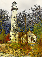 """For the Love of Piet""  Grosse Point Lighthouse  Evanston, Illinois 