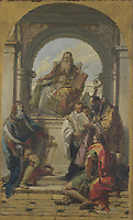 Full title: Four Saints<br /> Artist: Giovanni Battista Tiepolo<br /> Date made: before 1737<br /> Source: http://www.nationalgalleryimages.co.uk/<br /> Contact: picture.library@nationalgallery.co.uk<br /> <br /> Copyright © The National Gallery, London