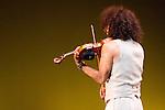 24.07.2012. Presentation of the show 'Violin Caprices & Body' at the Teatro Bellas Artes in Madrid. Ara Malikian at the violin, and the dancers Andoni Larrabeiti, Patricia Roldán, Patrizio Niccolai, Vanessa Sanabria and Marisol Rozo. (Alterphotos/Marta Gonzalez)
