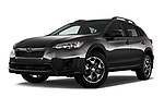 Stock pictures of low aggressive front three quarter view of a 2018 Subaru Crosstrek 4wd 5 Door SUV
