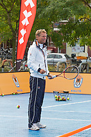 13-09-12, Netherlands, Amsterdam, Tennis, Daviscup Netherlands-Swiss, Streettennis, with Jan Siemerink.