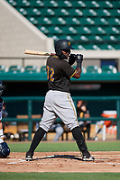 Pittsburgh Pirates Rodolfo Castro (32) at bat during a Florida Instructional League game against the Detroit Tigers on October 6, 2018 at Joker Marchant Stadium in Lakeland, Florida.  (Mike Janes/Four Seam Images)