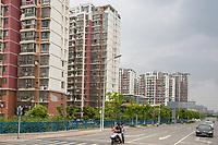Suzhou, Jiangsu, China.  Modern Apartment Buildings.