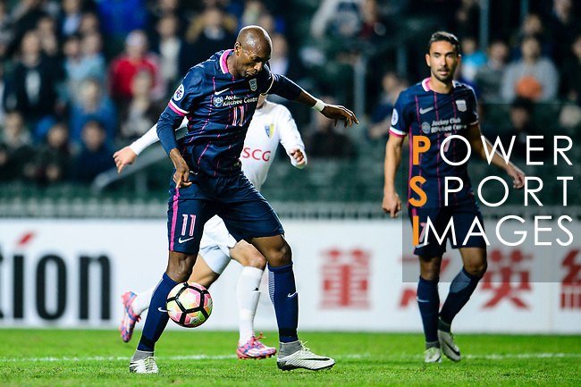 FC Kitchee Forward Alessandro Ferreira (l) attempts a kick during the AFC Champions League 2017 Preliminary Stage match between  Kitchee SC (HKG) vs Hanoi FC (VIE) at the Hong Kong Stadium on 25 January 2017 in Hong Kong, China. Photo by Marcio Rodrigo Machado / Power Sport Images