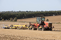 18.9.2020 Versatile 610dt pulling a TWB cultivating stubble in Lincolnshire  <br /> ©Tim Scrivener Photographer 07850 303986<br />      ....Covering Agriculture In The UK.