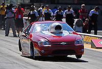 Jul, 8, 2011; Joliet, IL, USA: NHRA pro stock driver Steve Schmidt during qualifying for the Route 66 Nationals at Route 66 Raceway. Mandatory Credit: Mark J. Rebilas-