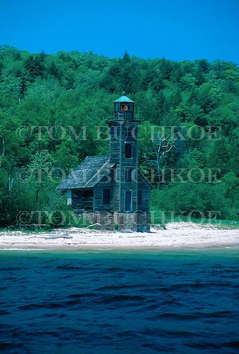 Grand Island East Channel Lighthouse, Munising, Michigan, Upper Peninsula of Michigan, Lake Superior.