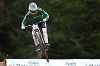 29th August 2021; Commezzadura, Trentino, Italy; 2021 Mountain Bike Cycling World Championships, Val di Sole; Downhill; Downhill final men, Henry Kerr (IRL)