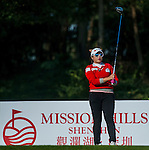 Hana Jang of Korea in action during the Hyundai China Ladies Open 2014 at World Cup Course in Mission Hills Shenzhen on December 13 2014, in Shenzhen, China. Photo by Xaume Olleros / Power Sport Images