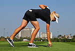Suzann Pettersen of Norway in action during the first day of the World Ladies Championship at the Mission Hills Haikou Sandbelt Trails course on 7 March 2013 in Hainan island, China . Photo by Manuel Queimadelos / The Power of Sport Images