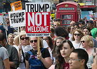 Protests as Donald Trump visits the UK - 13.07.2018