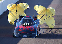 Feb 22, 2020; Chandler, AZ, USA; NHRA funny car driver Cruz Pedregon during qualifying for the Arizona Nationals at Wild Horse Pass Motorsports Park. Mandatory Credit: Mark J. Rebilas-USA TODAY Sports