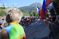 11th September 2021: Trento, Trentino–Alto Adige, Italy: UEC Road European Womens Elite Cycling Championships; Slovenia fans