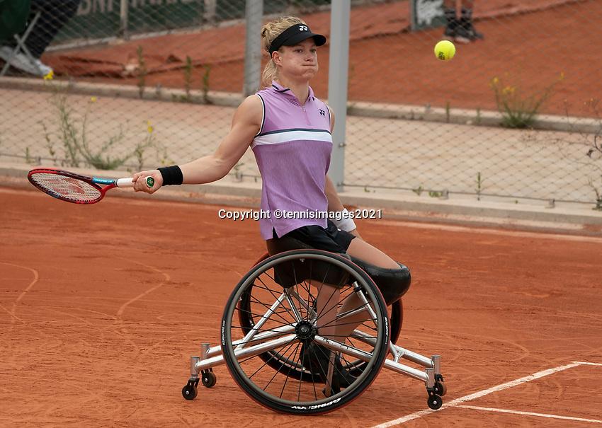 Paris, France, 7 june 2021, Tennis, French Open, Roland Garros,  Womans Wheelchair doubles final:  Dide de Groot (NED) <br /> Photo: tennisimages.com
