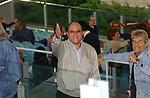 TEO MAMMUCARI CON ALBERTO MAROZZI, CARLO VERDONE E VANZINA <br /> STADIO OLIMPICO ROMA 2002