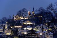 Deutschland, Hamburg, Blankenese, Süülberg im Schnee, der Süllberg ist der höchste Berg Hamburg