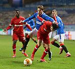 25.02.2021 Rangers v Royal Antwerp: Scott Wright and Lior Refaelov
