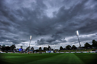 The clouds swirl at lunch during day five of the international cricket 2nd test match between NZ Black Caps and England at Seddon Park in Hamilton, New Zealand on Tuesday, 3 December 2019. Photo: Dave Lintott / lintottphoto.co.nz