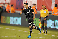EAST RUTHERFORD, NJ - SEPTEMBER 7: Hirving Lozano #22 of Mexico entering the game during a game between Mexico and USMNT at MetLife Stadium on September 6, 2019 in East Rutherford, New Jersey.